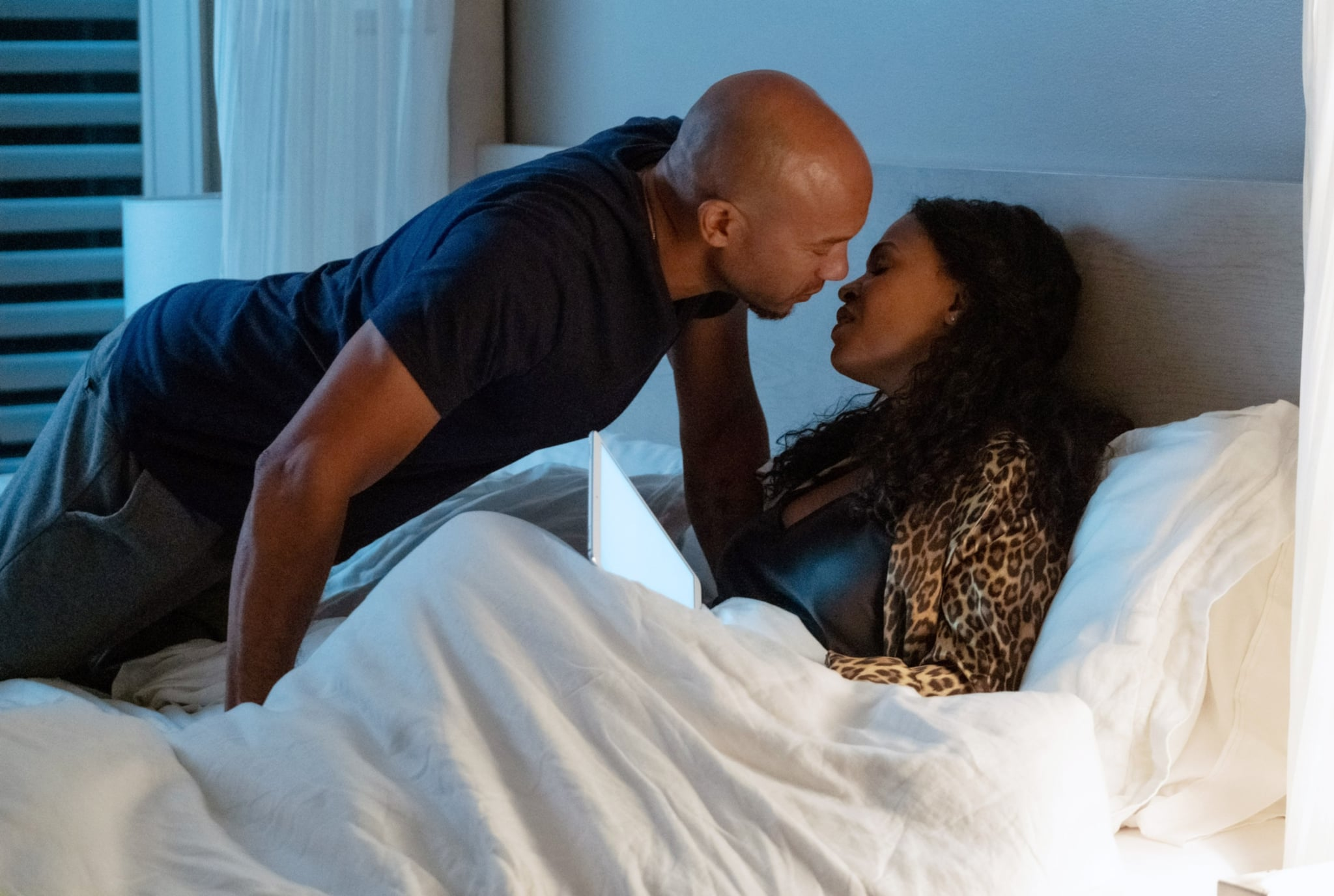 FATAL AFFAIR, from left: Stephen Bishop, Nia Long, 2020. ph: Beth Dubber / Netflix / Courtesy Everett Collection