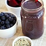Kale Beet Blueberry Chocolate Protein Smoothie