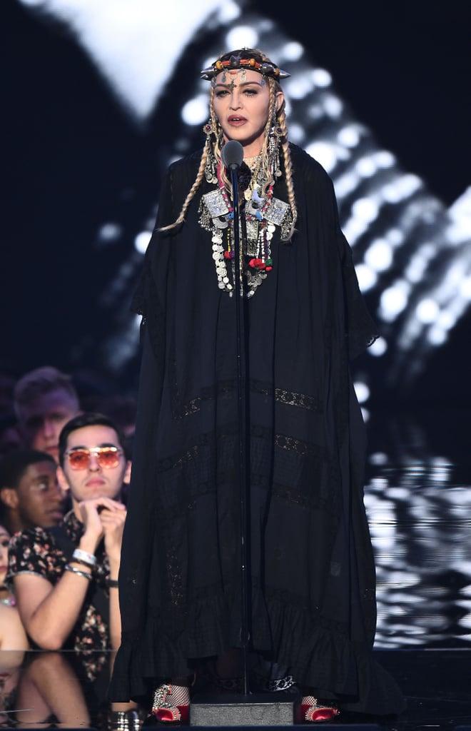 Madonna S Outfit At The 2018 Mtv Vmas Popsugar Fashion