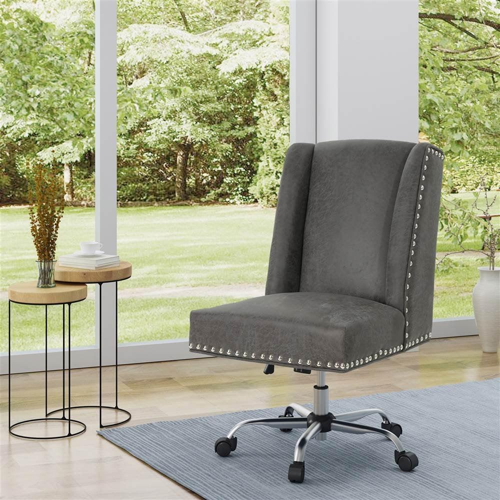 Noble House Home Office Microfiber Desk Chair