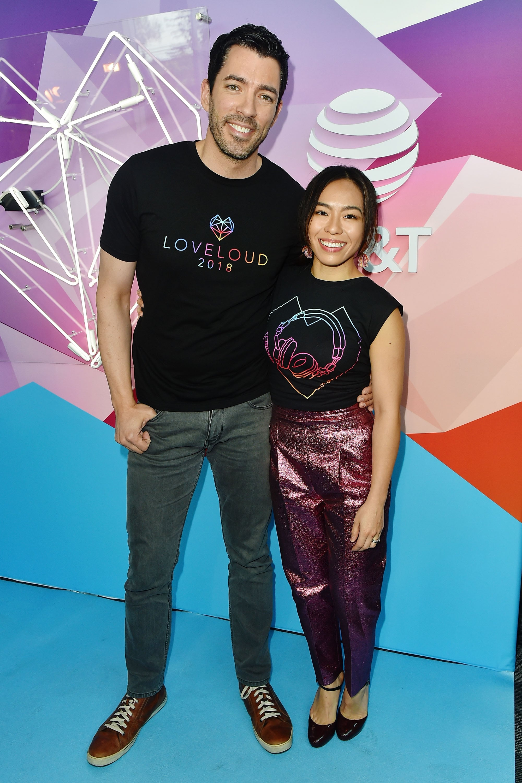 SALT LAKE CITY, UT - JULY 28:  Drew Scott and Linda Phan attends 2018 LOVELOUD Festival Powered By AT&T at Rice-Eccles Stadium on July 28, 2018 in Salt Lake City, Utah.  (Photo by Jerod Harris/Getty Images for LOVELOUD Festival)