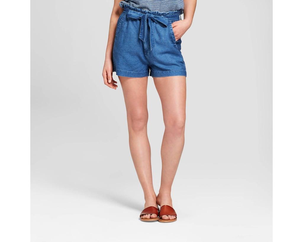 Women's Paper Bag Waist Shorts