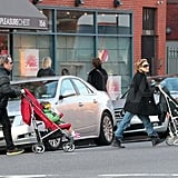 SJP and Matthew Broderick out in NYC with Tabitha and Loretta.