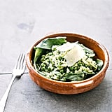 "Zucchini ""Pasta"" With Peas and Parmesan"