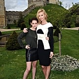 Kristen Stewart and Charlize Theron posed together in England.