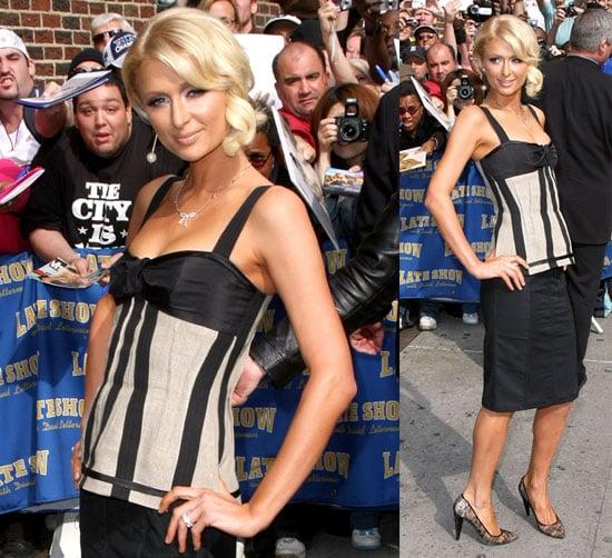 Paris Hilton on Letterman May 8, 2008