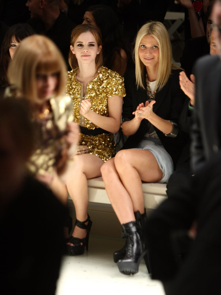 Emma Watson and Gwyneth Paltrow were in London in September 2009 for Burberry.