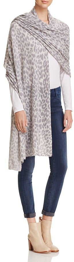 C by Bloomingdale's Animal Print Travel Cashmere Wrap ($198)