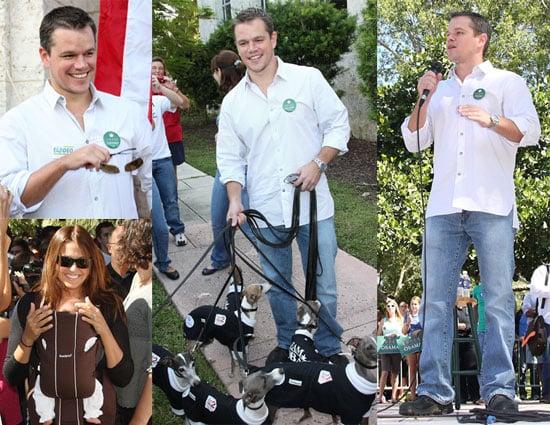 Photos of Matt Damon at the Obama Headquarters in Florida