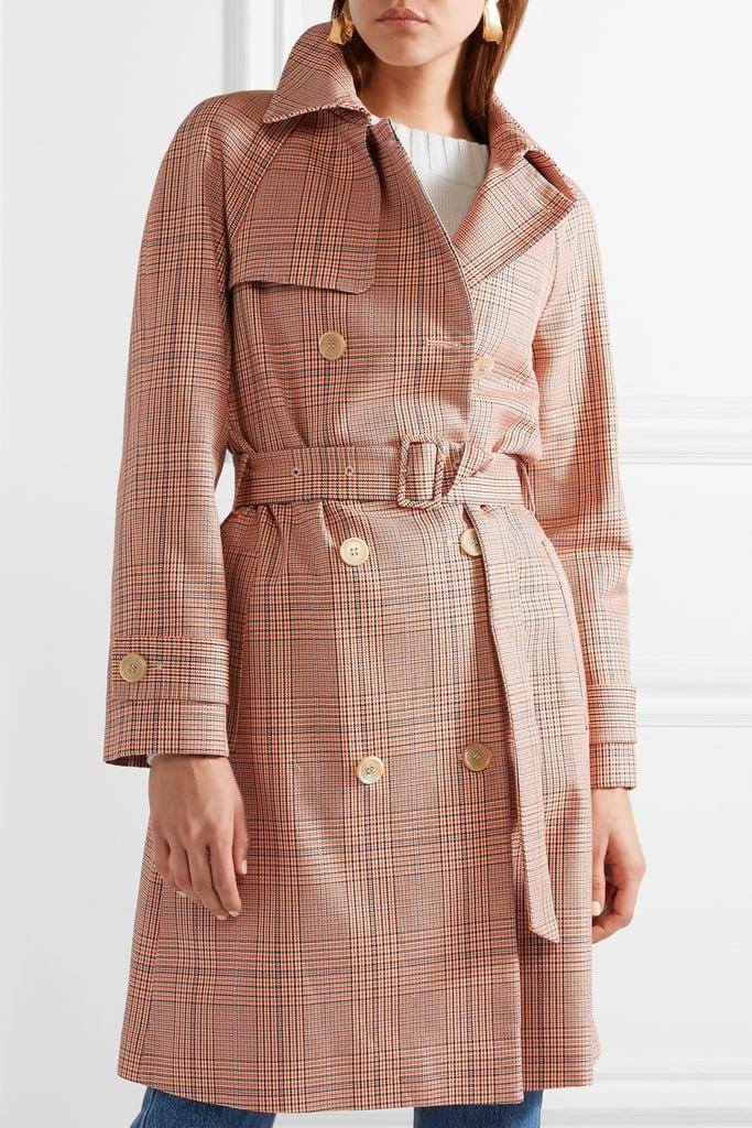 Paul & Joe Checked Cotton-gabardine Trench Coat