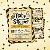 Hufflepuff Hogwarts Harry Potter Baby Shower Invitation