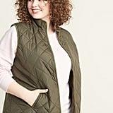 Old Navy Lightweight Diamond-Quilted Plus-Size Zip Vest