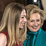 Hillary Clinton and her daughter, Chelsea, attended the event to support Bill.