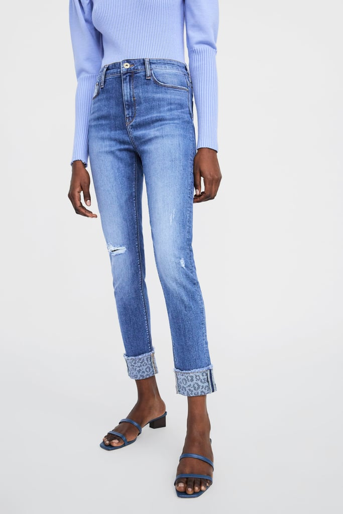 15c2e3529d Zara Hi-Rise Z1975 Jeans With Turned-Up Cuffs | Gigi Hadid Jeans ...