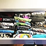 Organize the clothes you've opted to keep.