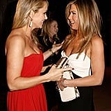 Jennifer Anistona nd Christine Taylor chatted at the awards.