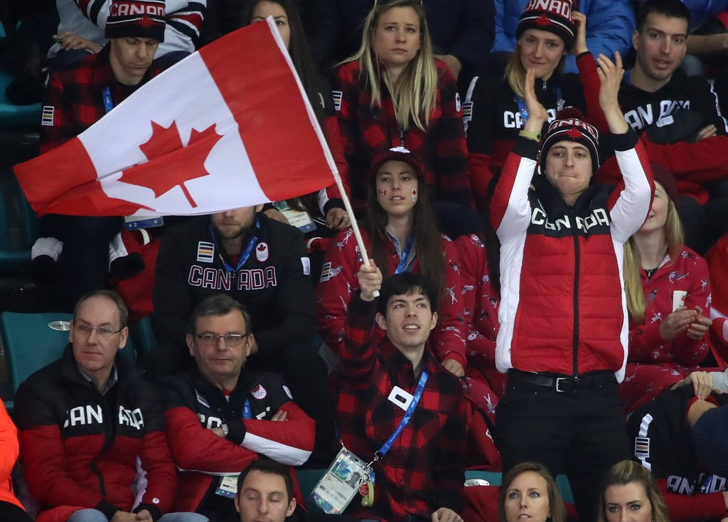 Scott Moir at Team Canada Women's Hockey Game