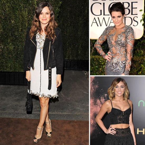 Rachel Bilson, Miley Cyrus, and More Embrace Floral Appliqué in Sexy Red-Carpet Style