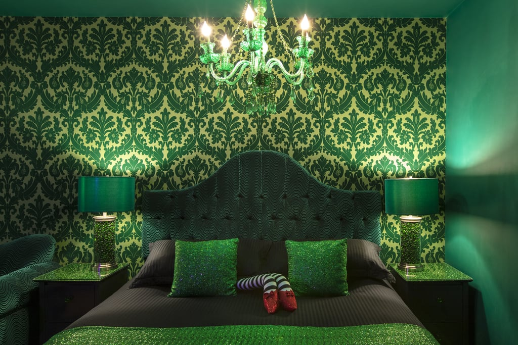 A Wizard of Oz-Themed Bedroom, Featuring a Pair of Ruby Slippers