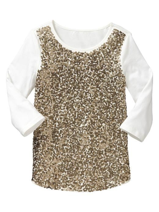 Gap Metallic Sequin-Embellished Top
