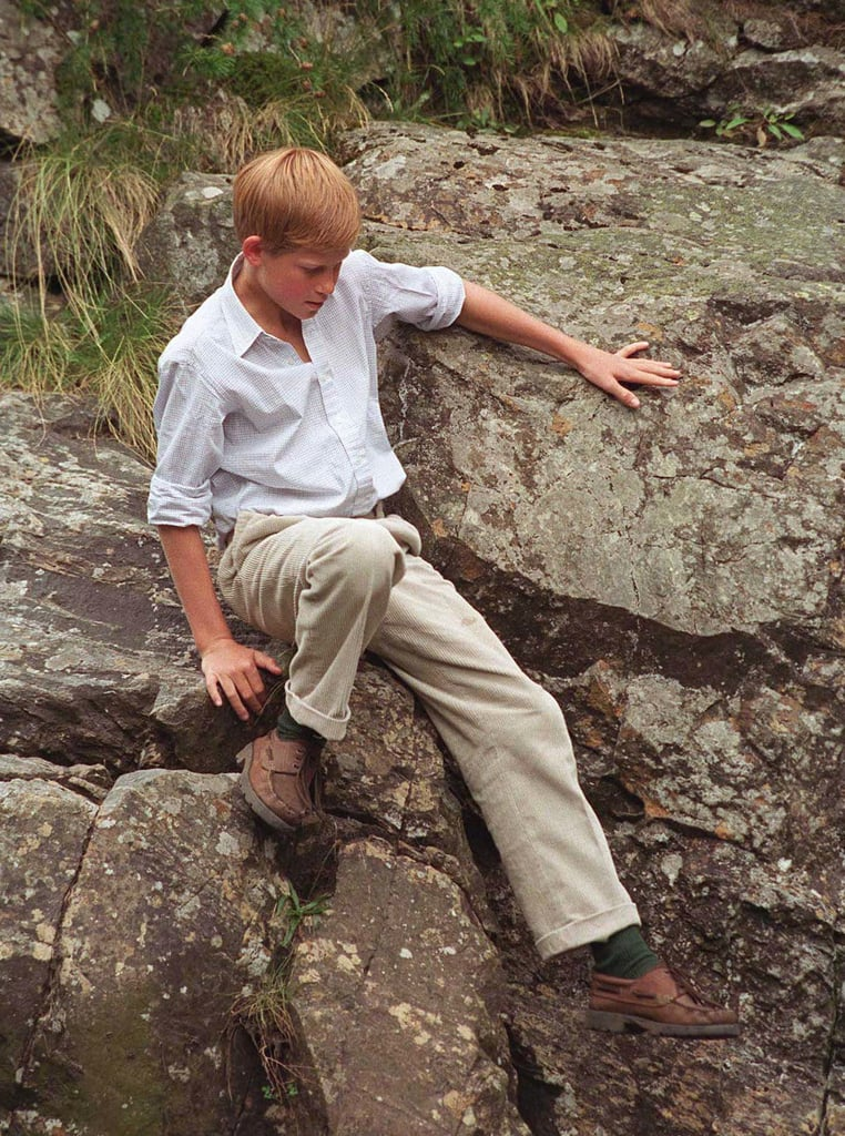 Prince Harry at Muick Falls
