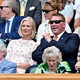 Joely Richardson and Matthew Pinsent at Day 7 of Wimbledon