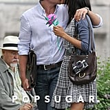 Bradley Cooper and Zoe Saldana kissed on the set of their movie The Words in June 2011.