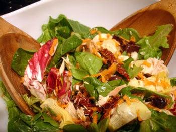 Artichoke, Tuna, and Mushroom Salad With Thyme Vinaigrette