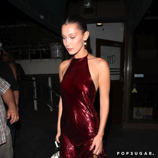 Bella Hadid Red Sequin Dress