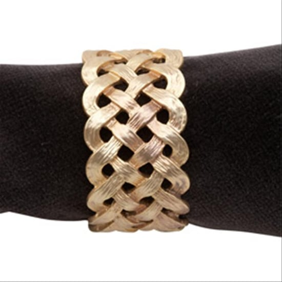 Gold Braided Napkin Ring ($99 For 4)