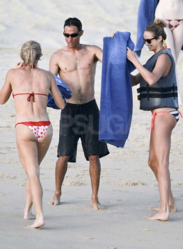 Stacy Keibler on the beach in Mexico.