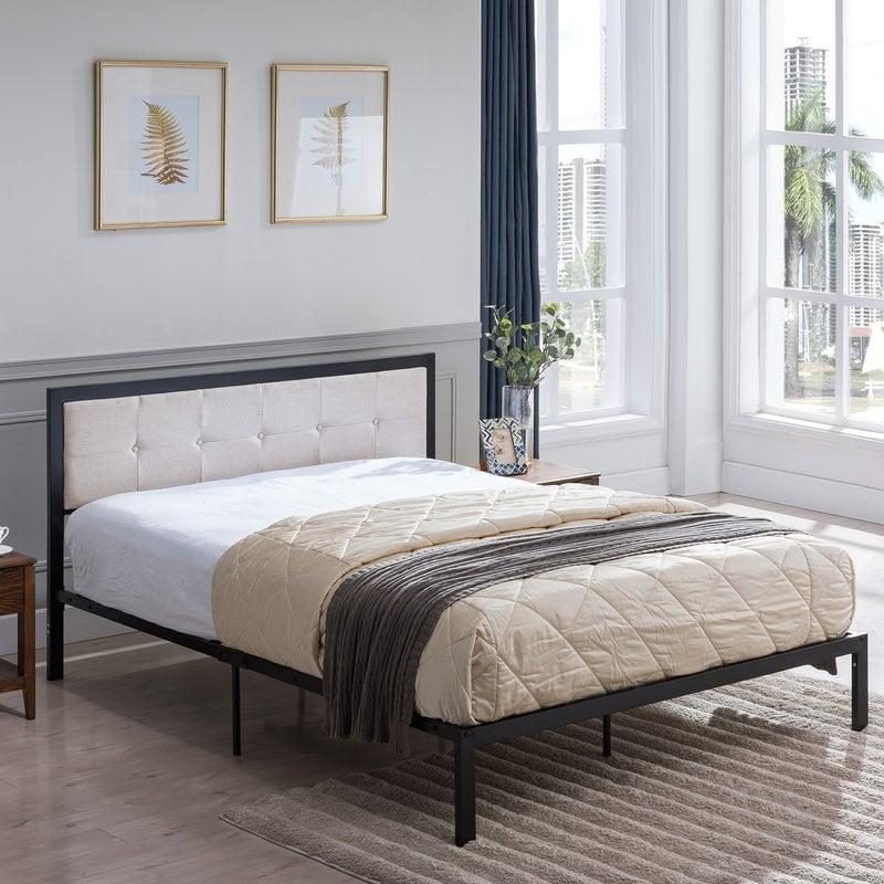 Dede Queen Upholstered Panel Bed