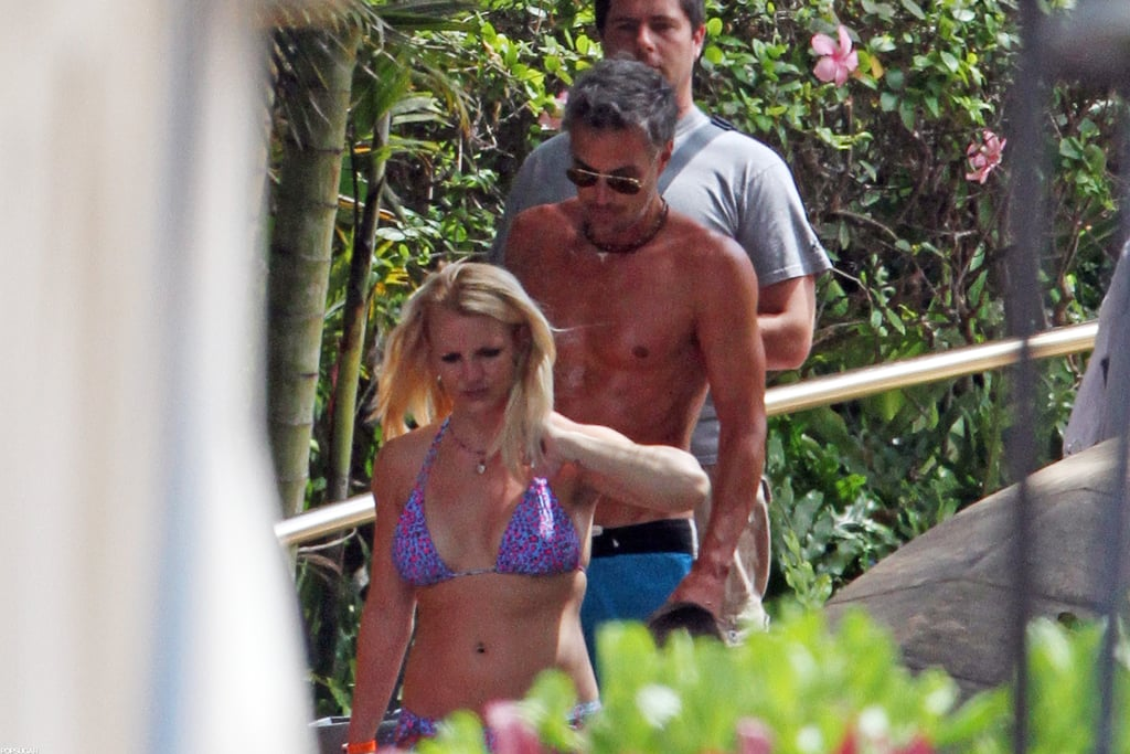 Britney Spears Poses in a Bikini With Her Boys and Hangs With Shirtless Jason Trawick