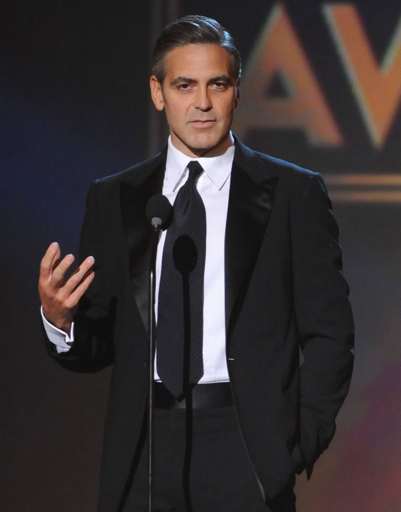 George Clooney presented onstage during the 2008 show.