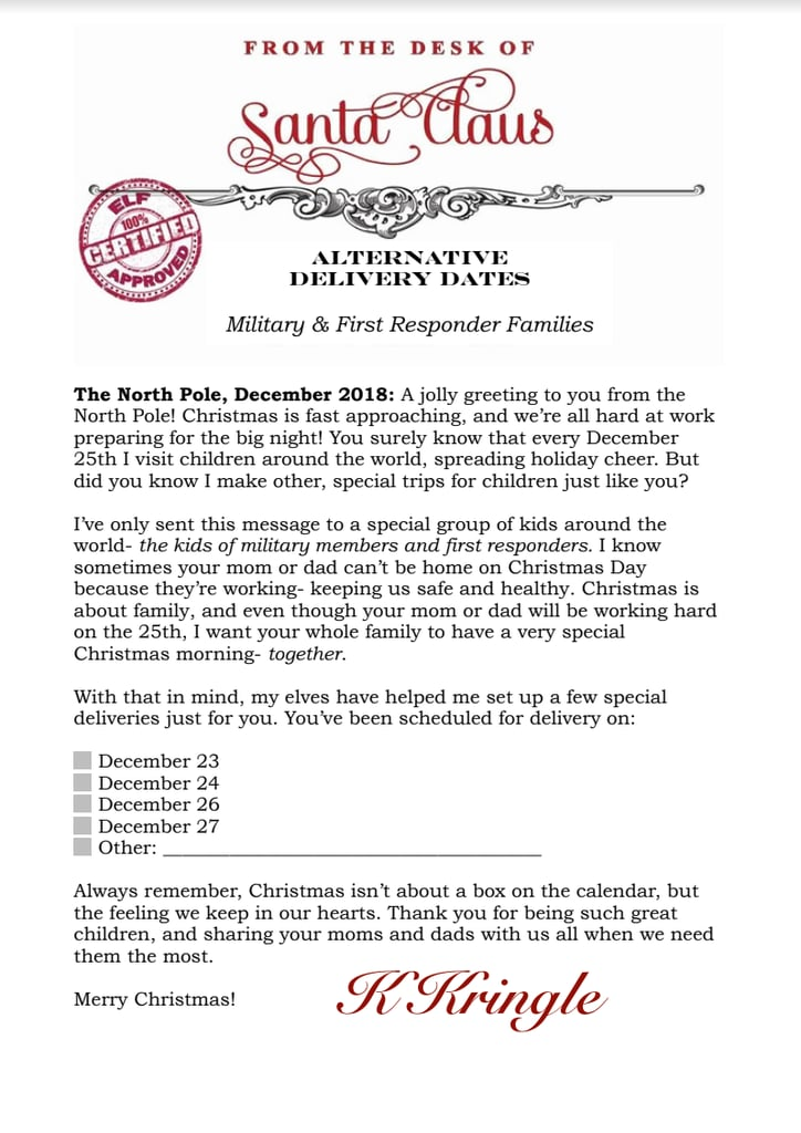 For Military & First Responder Families