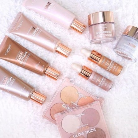 L'Oreal Rose Gold Lumi Glow Collection