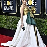 Jennifer Lopez's Giant Braided Bun to the Golden Globes