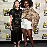 Pictured: Elizabeth Olsen and Teyonah Parris at San Diego Comic-Con.