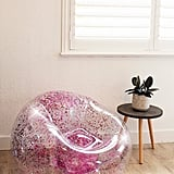 Inflatable Glitter Chair in Pink