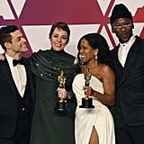 Pictured: Regina King, Rami Malek, Mahershala Ali, and Olivia Colman