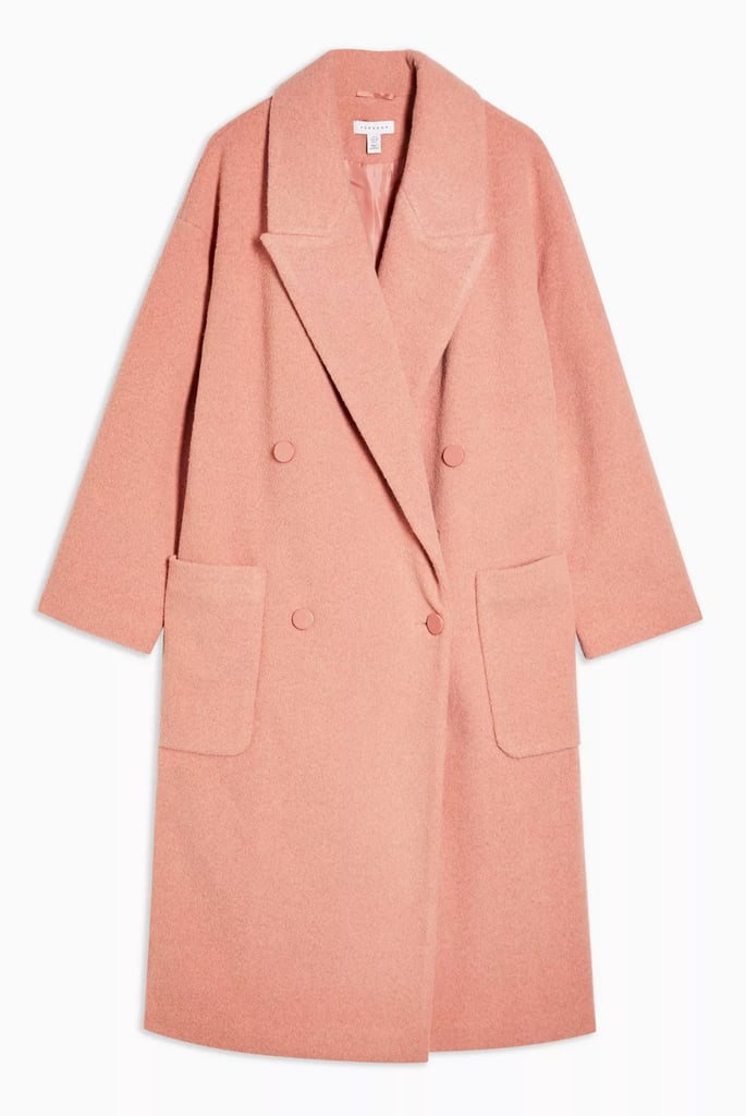 Topshop Apricot Dropped Coat