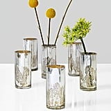 Serene Spaces Living Antique Silver Cylinder Vases