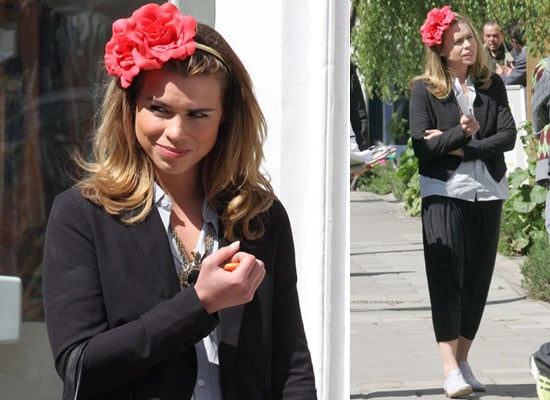 Photos of Billie Piper Filming Scenes For Secret Diary of a Call Girl Series Three in London