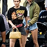 Kendall Jenner and Bella Hadid at Lakers Game November 2016