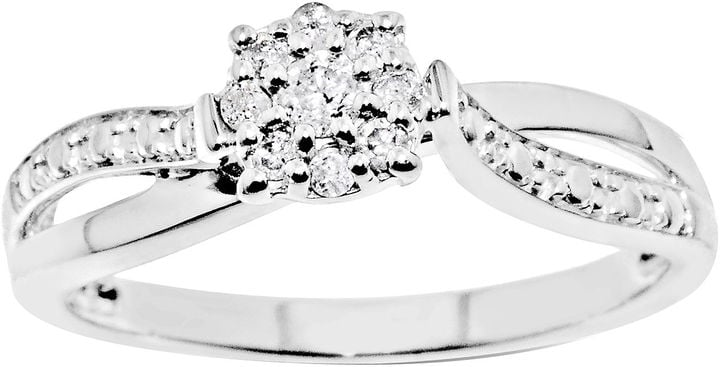 Modern Bride Silver Promise Ring