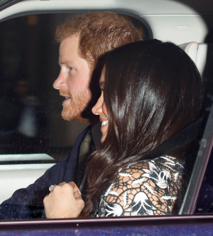 Prince Harry And Meghan Markle At Queen's Christmas Lunch