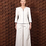 Tilda Swinton Showed Up in Crisp White Coordinates