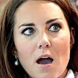 Kate Middleton looked shocked at the 2012 Olympic Games in London.