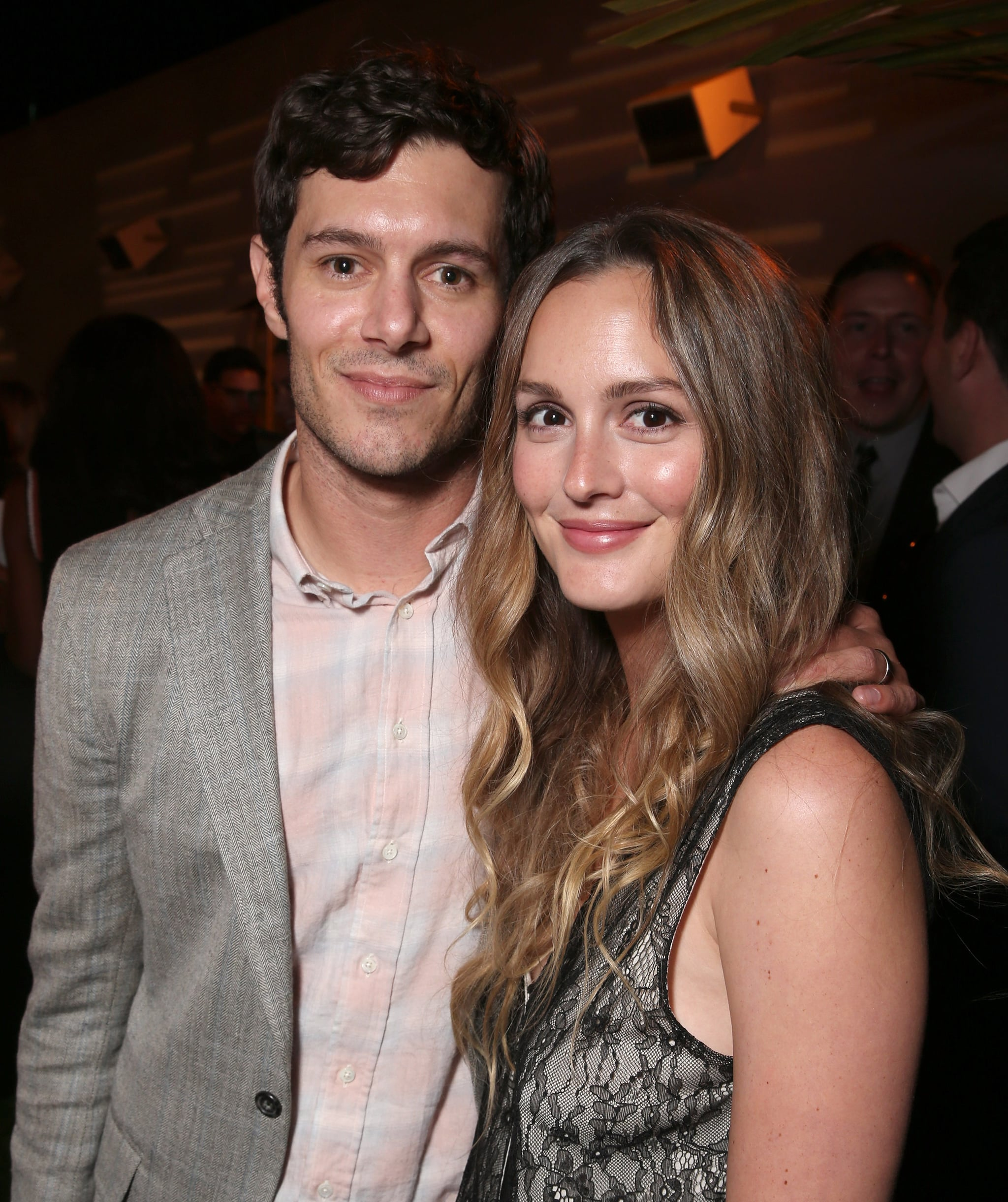 LOS ANGELES, CA - AUGUST 23:  Adam Brody and Leighton Meester attend the after party for the premiere pf Crackle's