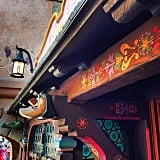 The intricate wood carvings that are placed throughout the Peter Pan's Flight ride.